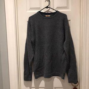 Woolrich crew sweater navy heather Size medium